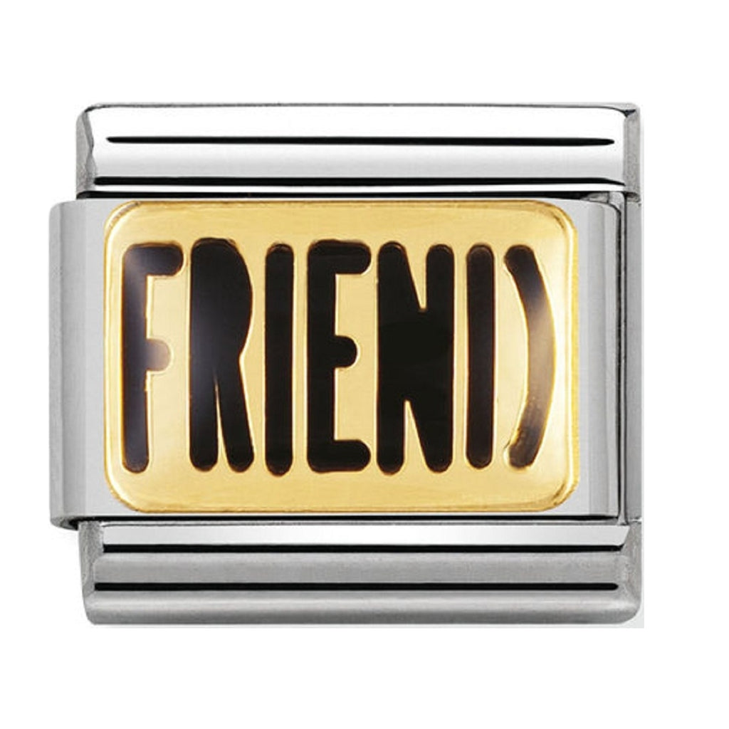 nomination charms 18ct GOLD and Enamel Friend 030232-03