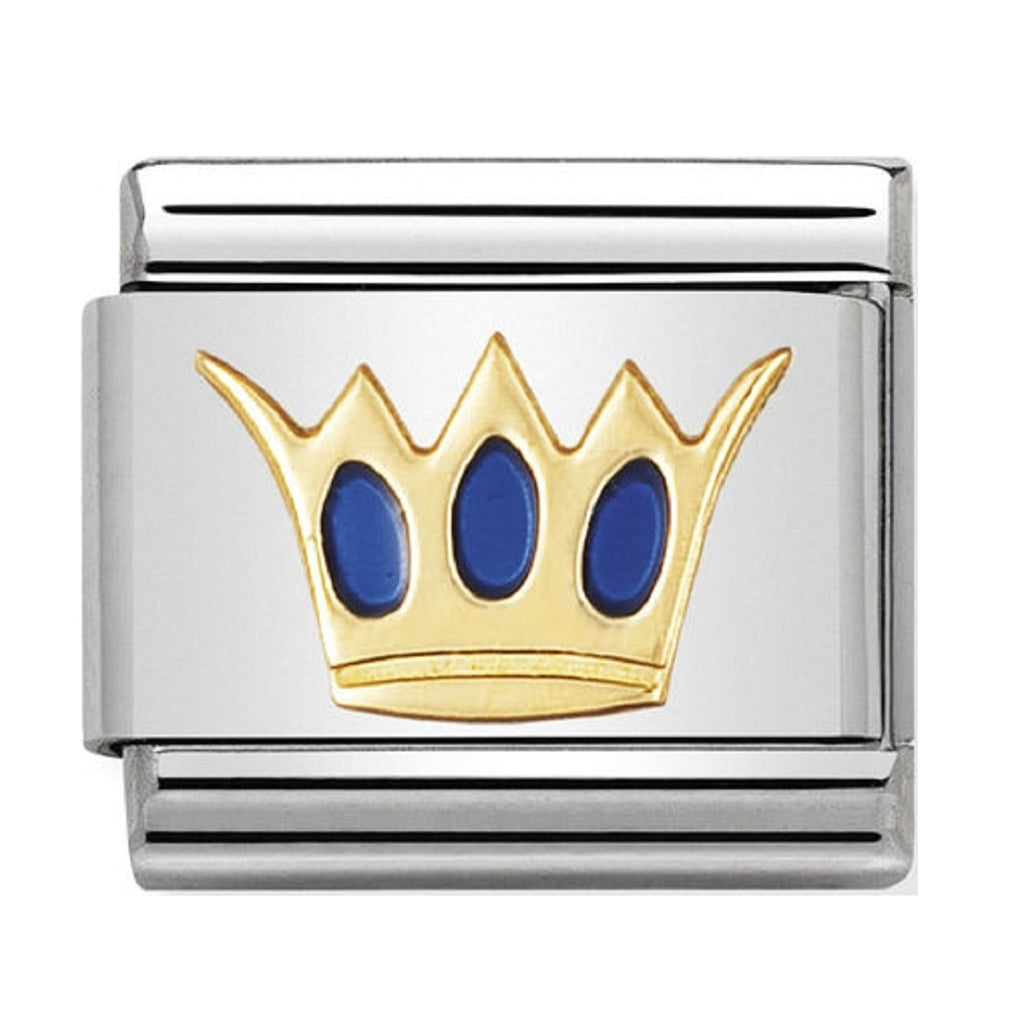 Nomination Charms 18ct Gold and Enamel Kings Crown Charm 030209-17