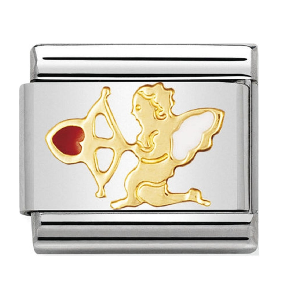 Nomination Charms 18ct Gold and Enamel Cupid