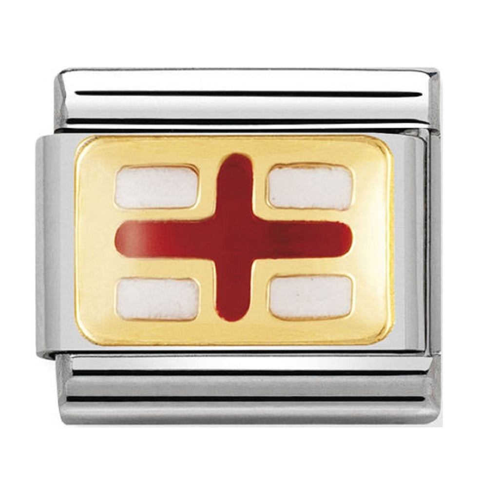 Nomination Charms 18ct Gold and Enamel England Flag