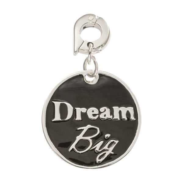 Nikki Lissoni Silver Plated Dangle Charm Dream Big