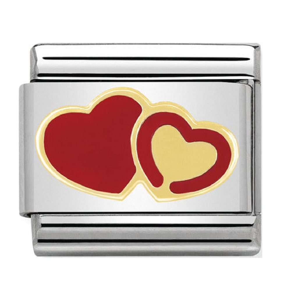 Nomination Charms 18ct Gold and Red Hearts 030253-29