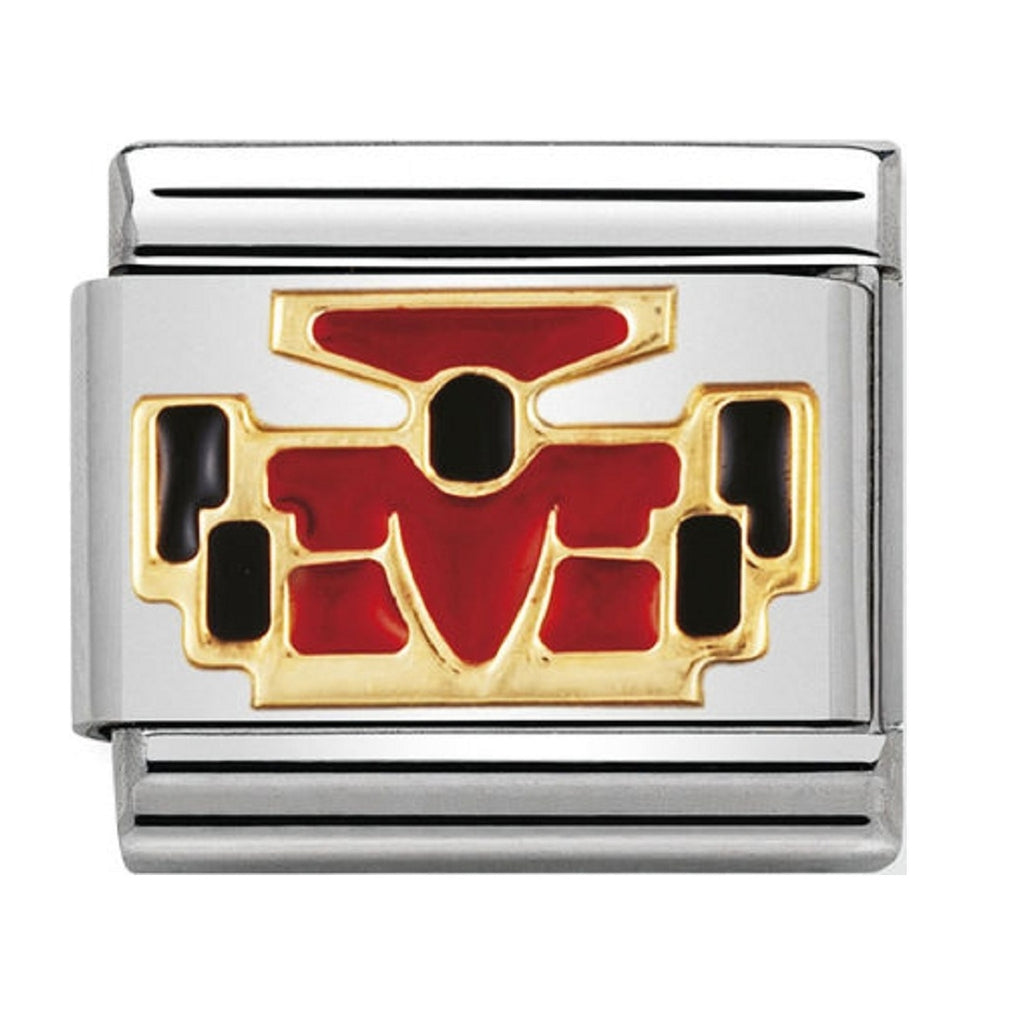 Nomination Charms 18ct Red Enamel Car
