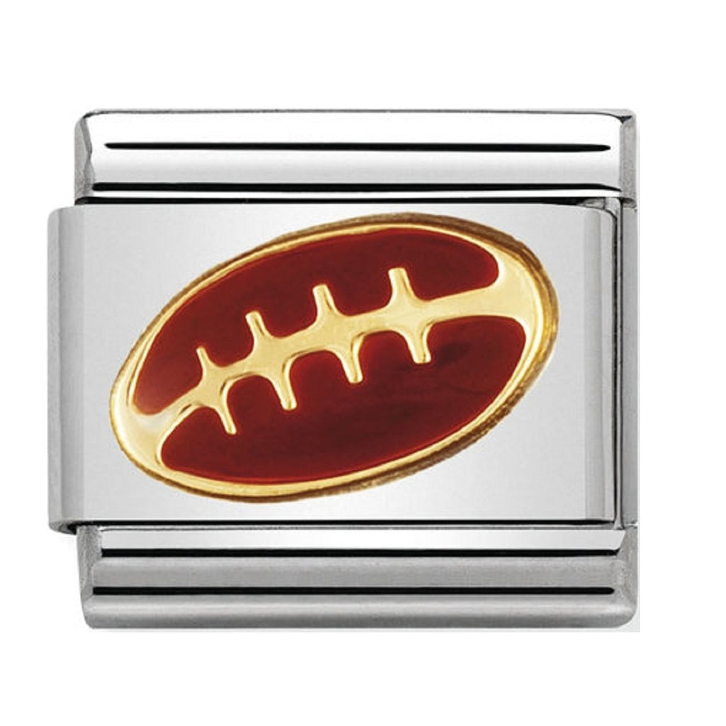 Nomination Charms American Football 18ct Gold and Enamel
