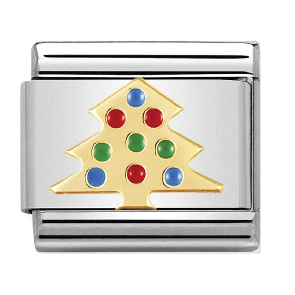 Nomination Charms Christmas Tree Gold and Enamel 030225-03