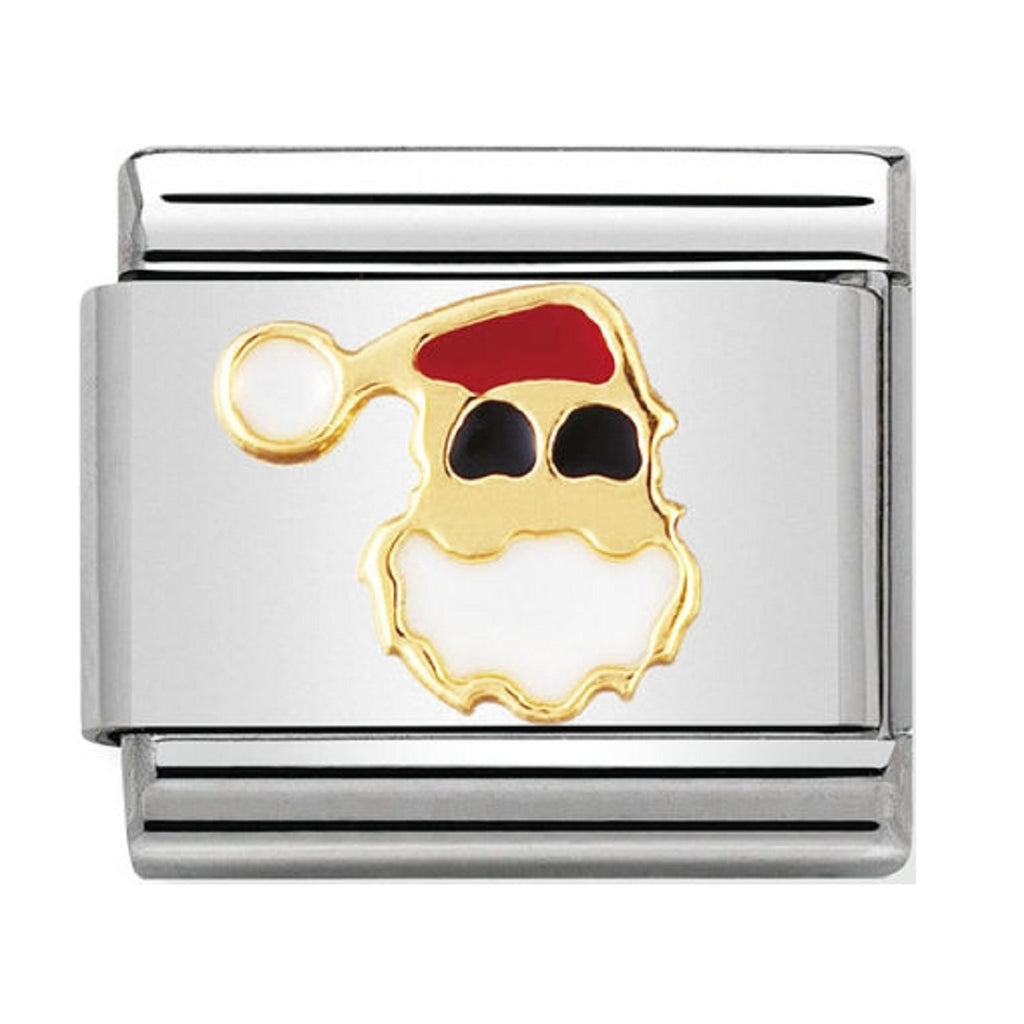 Nomination Charms Father Christmas Gold and Enamel
