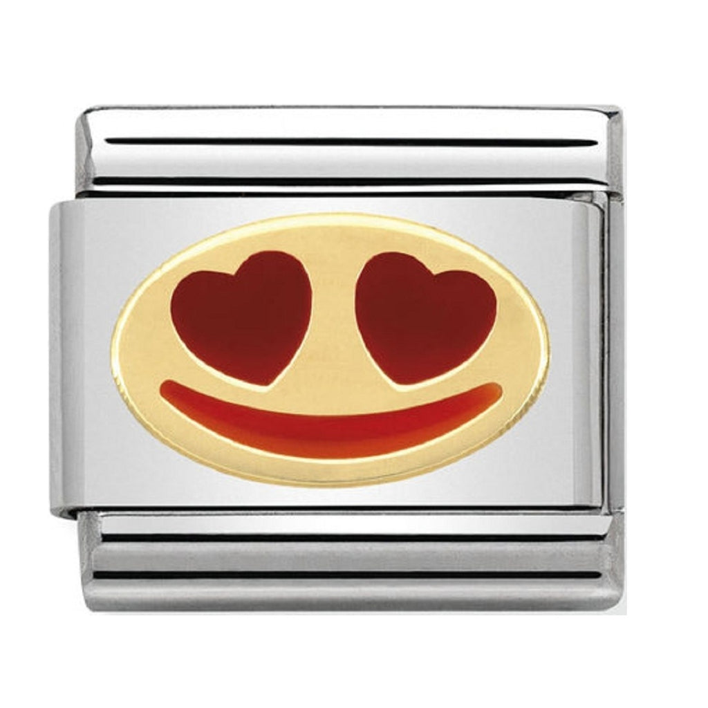 Nomination Charms In Love Smile Gold and Enamel