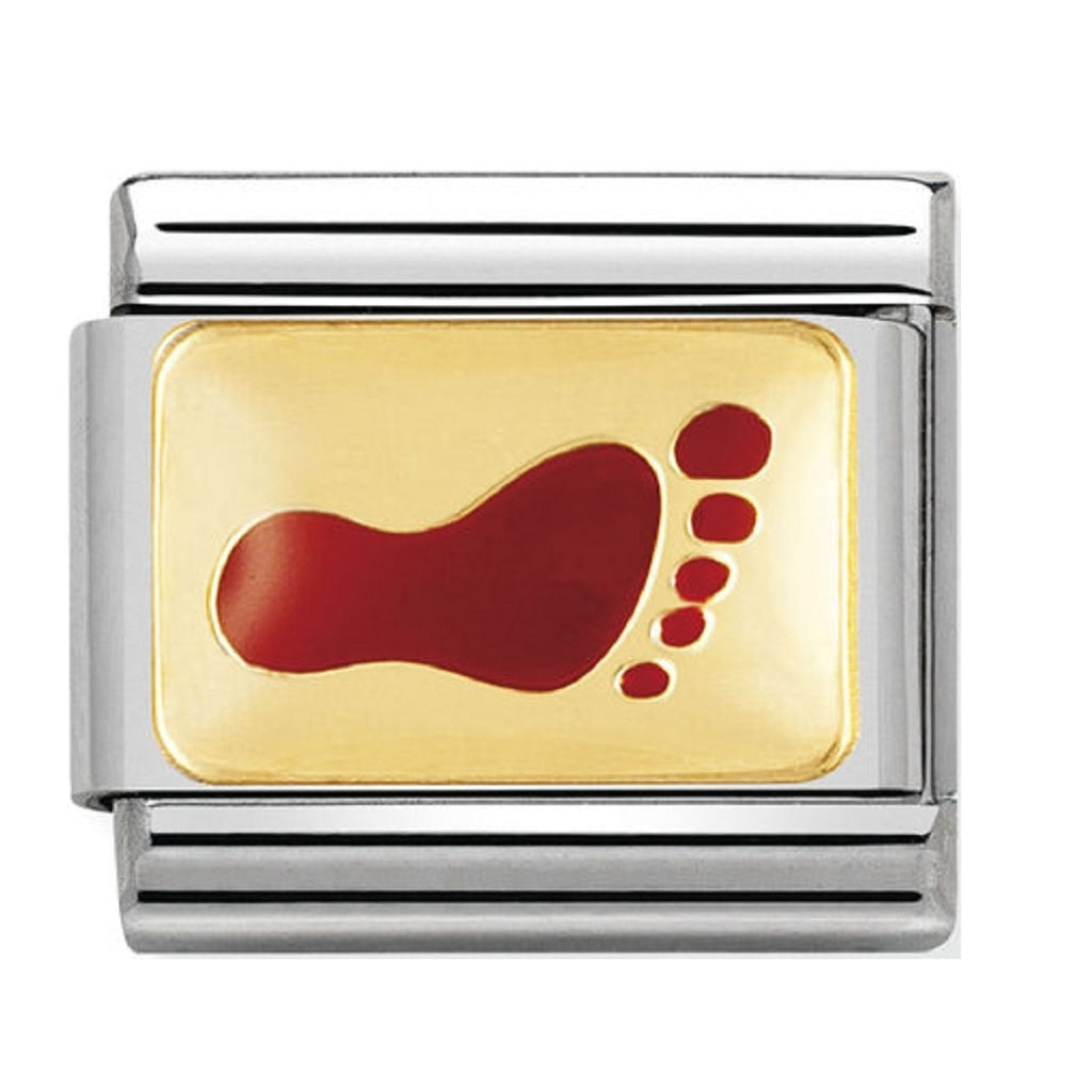 Nomination Charms Red Foot Print Classic Enamel