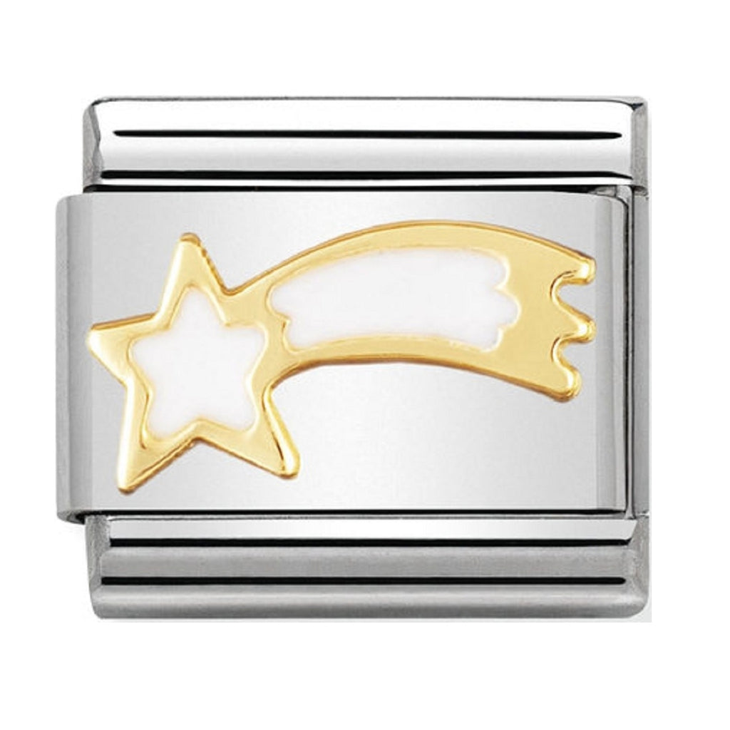 Nomination Charms Shooting Star White Enamel