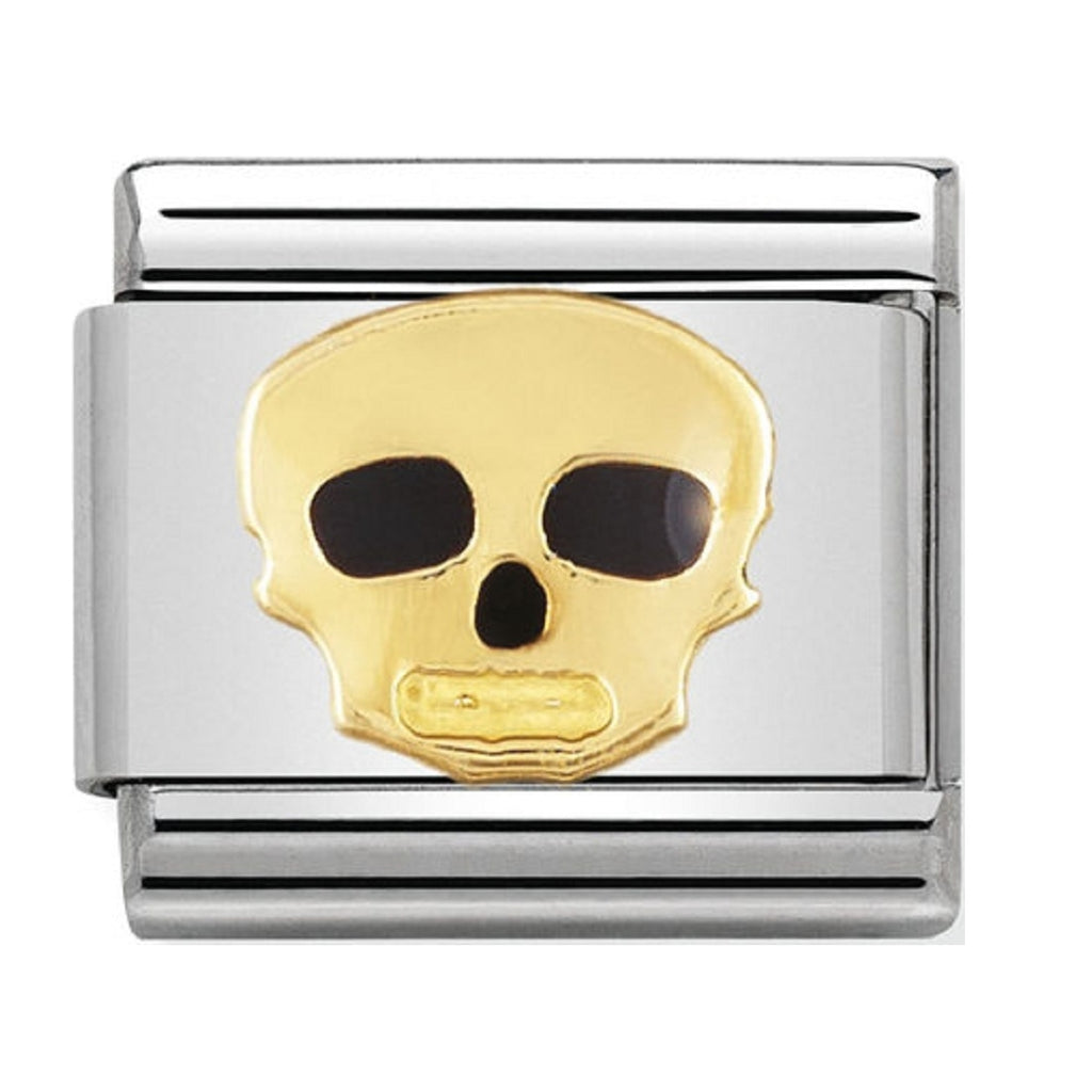 Nomination Charms Skull 18ct and Enamel