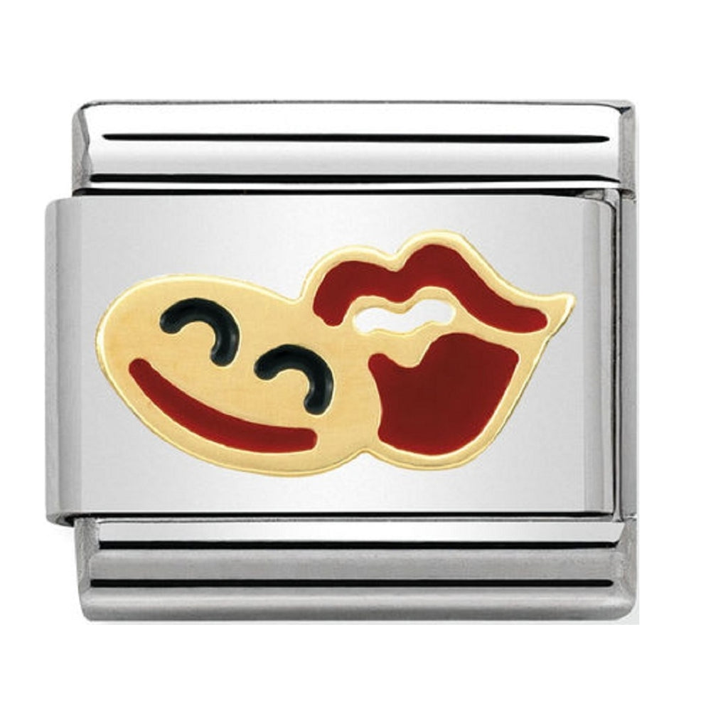 Nomination Charms Smile and Lips Gold and Enamel