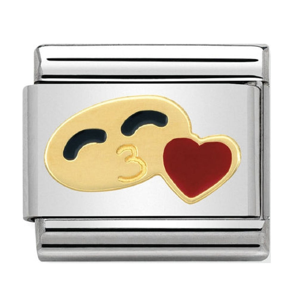 Nomination Charms Smile with Heart Gold and Enamel