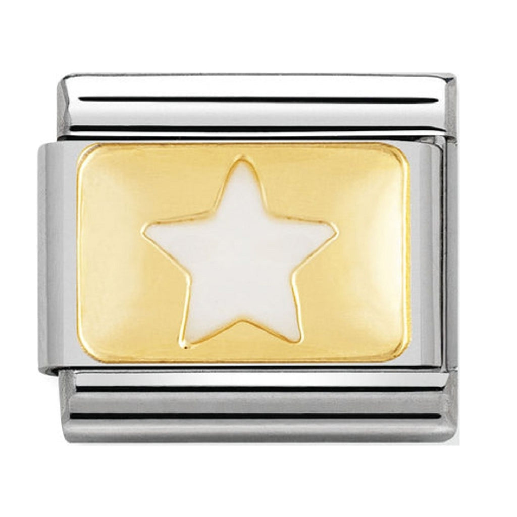 Nomination Charms White Star Gold Plaque