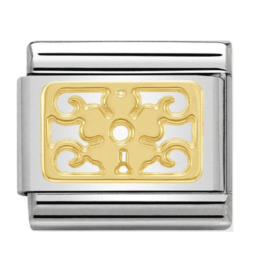 Nomination Charms 18ct Gold Flower plaque