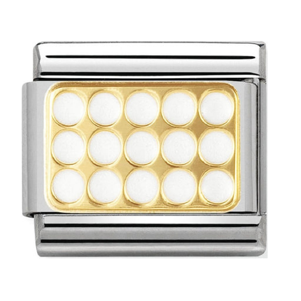 Nomination Charms 18ct Grill with White Enamel
