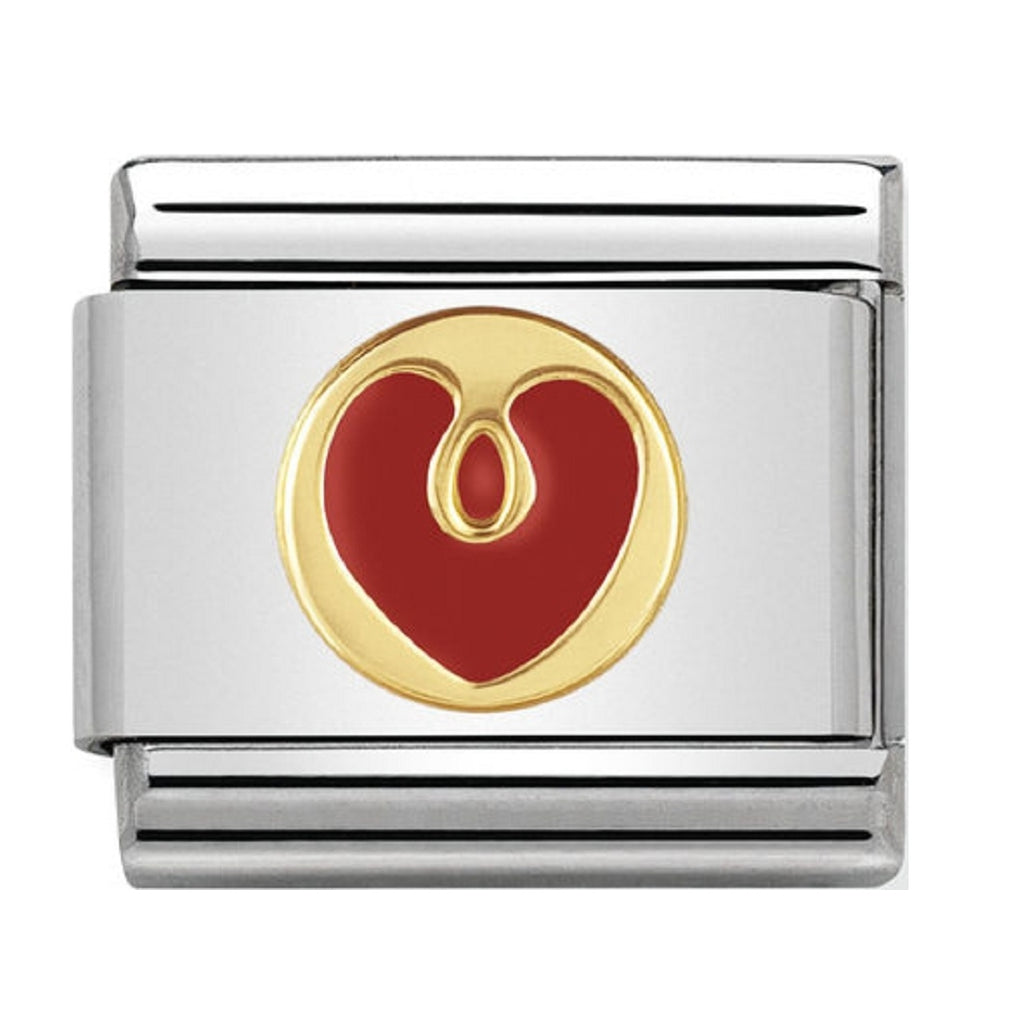 Nomination Charms 18ct and Enamel Heart