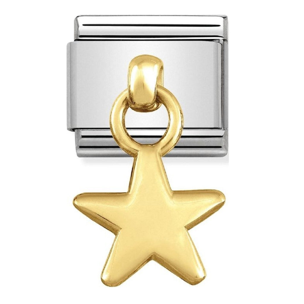 Nomination Charms 18ct Gold Star Charm