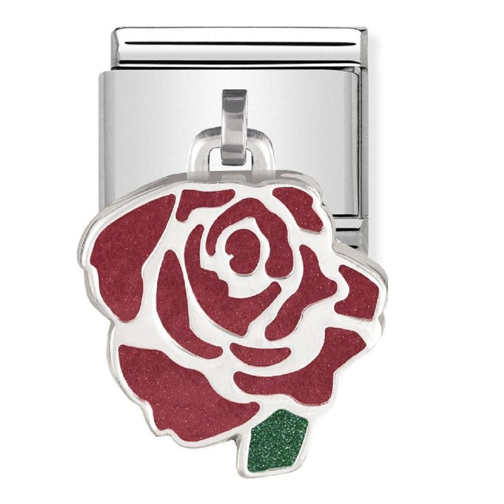 Nomination Charms Red Rose Pendants