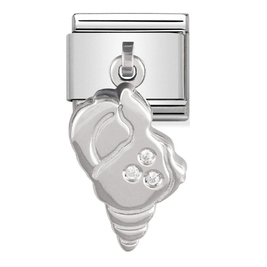 Nomination Charms Silver Shell Pendant with CZ