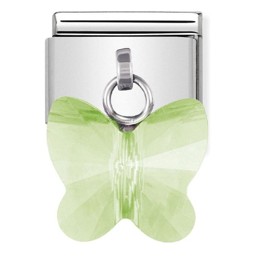 Nomination Charms Swarovski Green Butterfly Classic Pendants