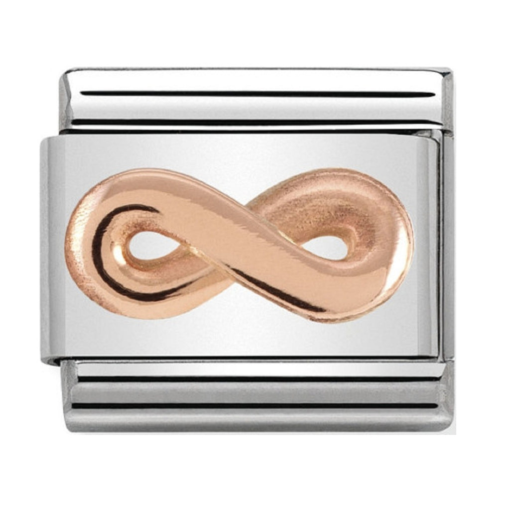 Nomination Link Rose Gold Infinity