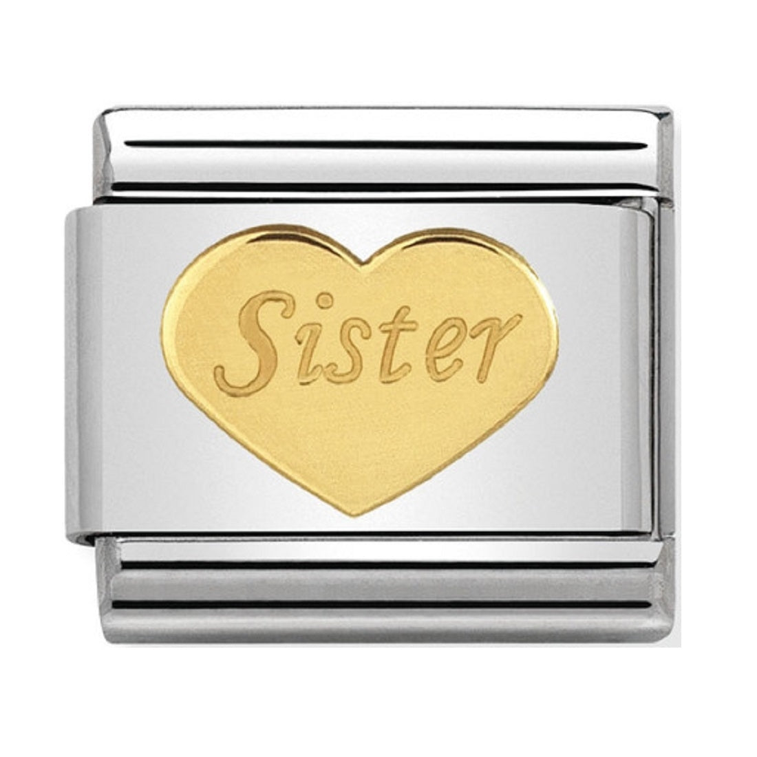 Nomination Link 18ct Gold Sister Heart – The Secret Garden bfbe6b7b7d66