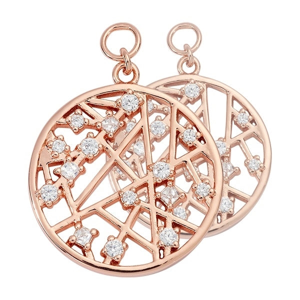 Nikki Lissoni Rose Gold Plated Mixed Earring Coins