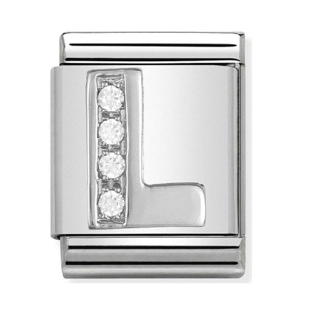 Nomination Big Charms Silver CZ Letter L  332301-12