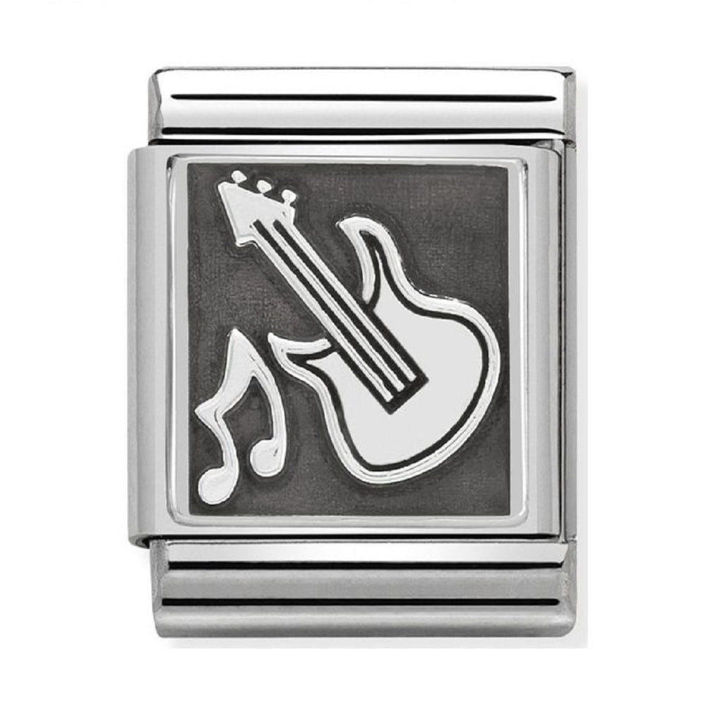 Nomination Charms Oxidized Silver Guitar 332110-01