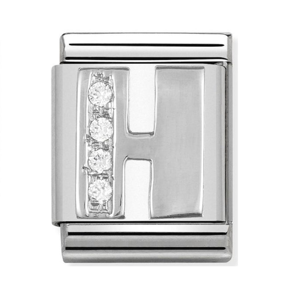 Nomination Charms Silver CZ Letter H