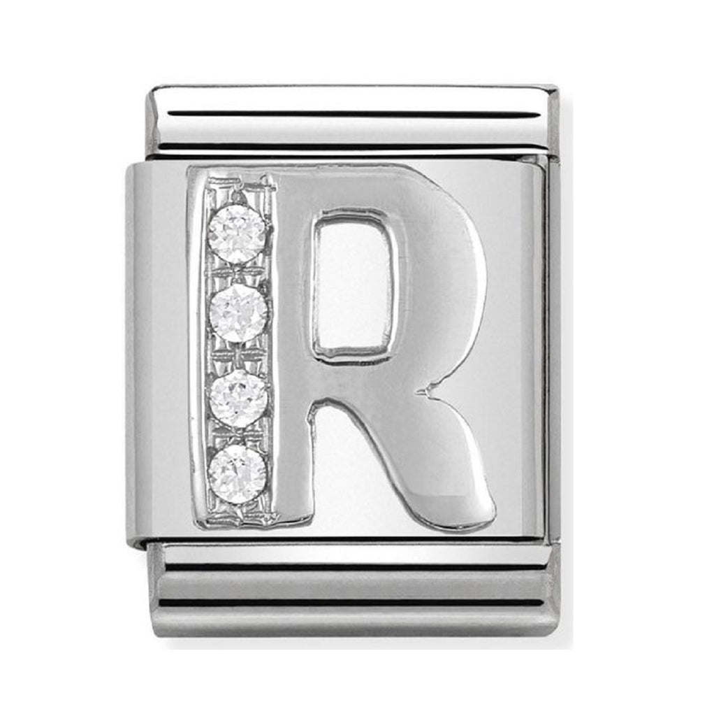 Nomination Charms Silver CZ Letter R