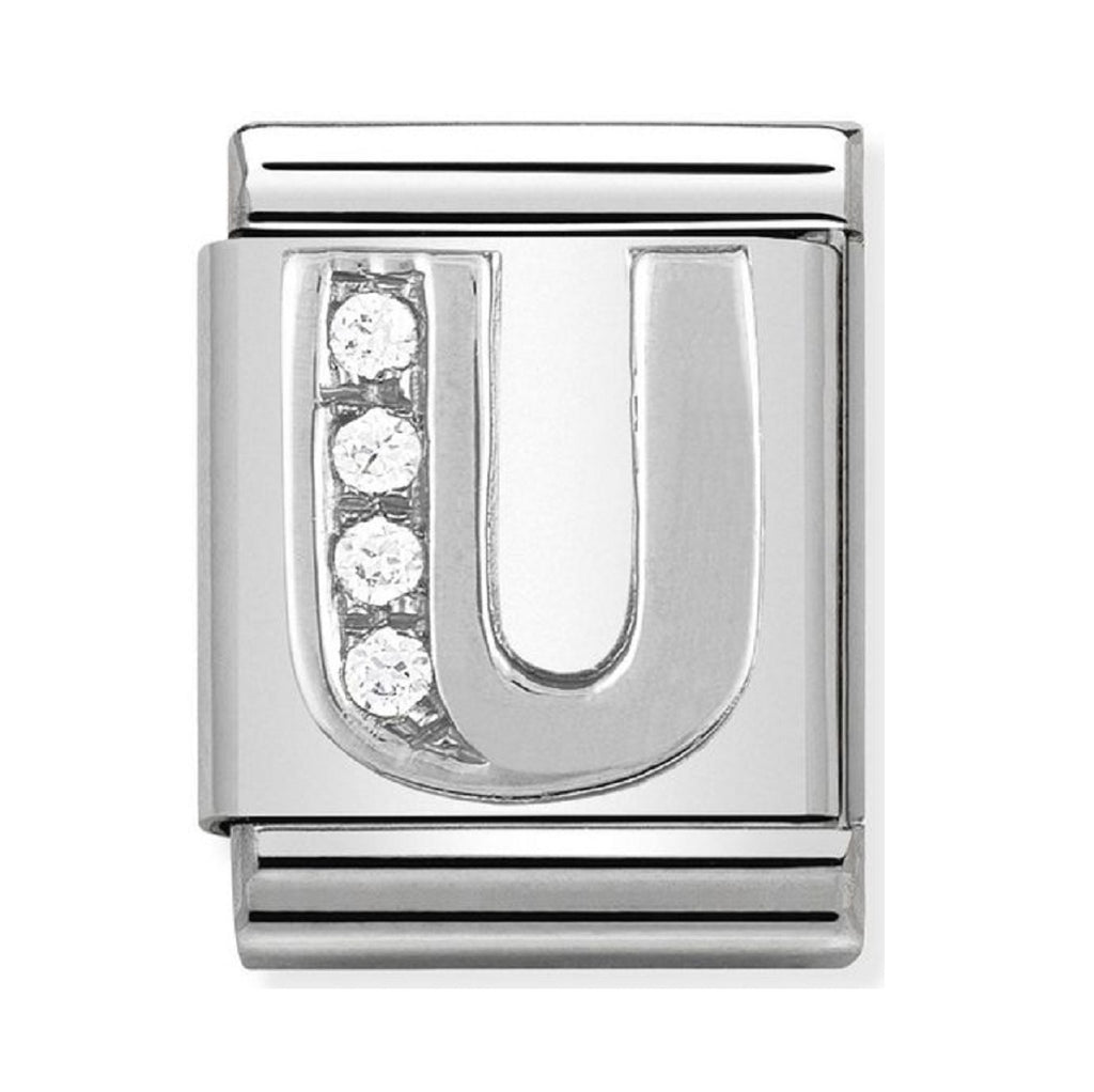 Nomination Charms Silver CZ Letter U