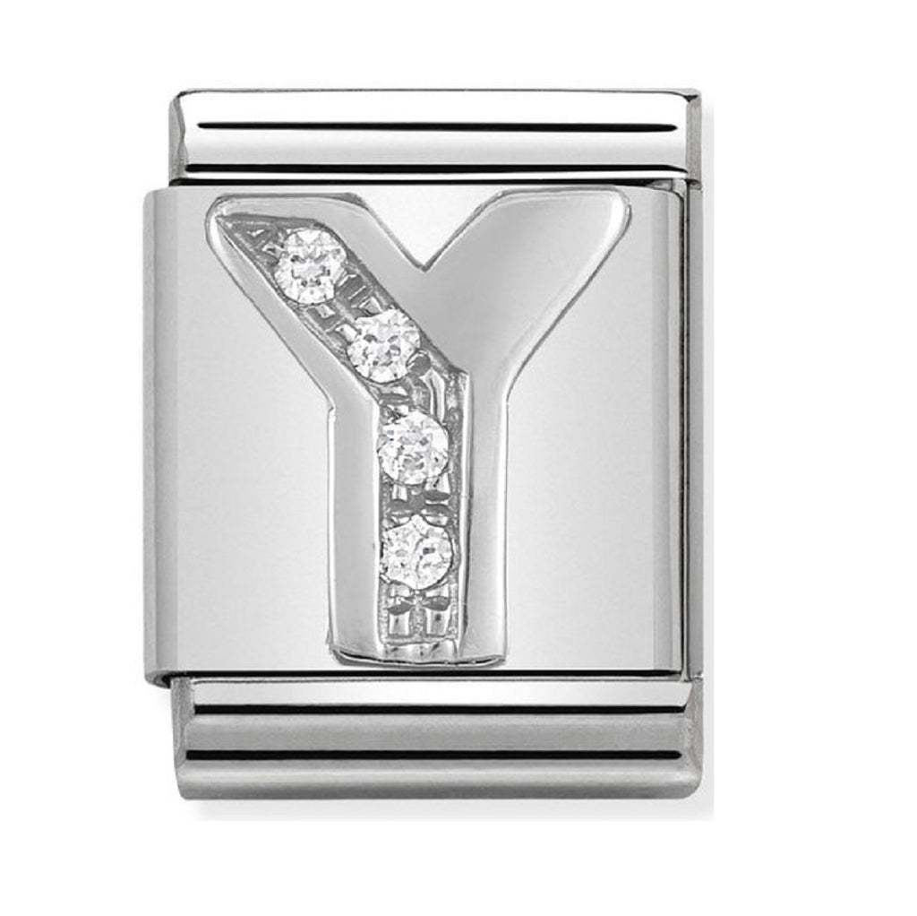 Nomination Charms Silver CZ Letter Y