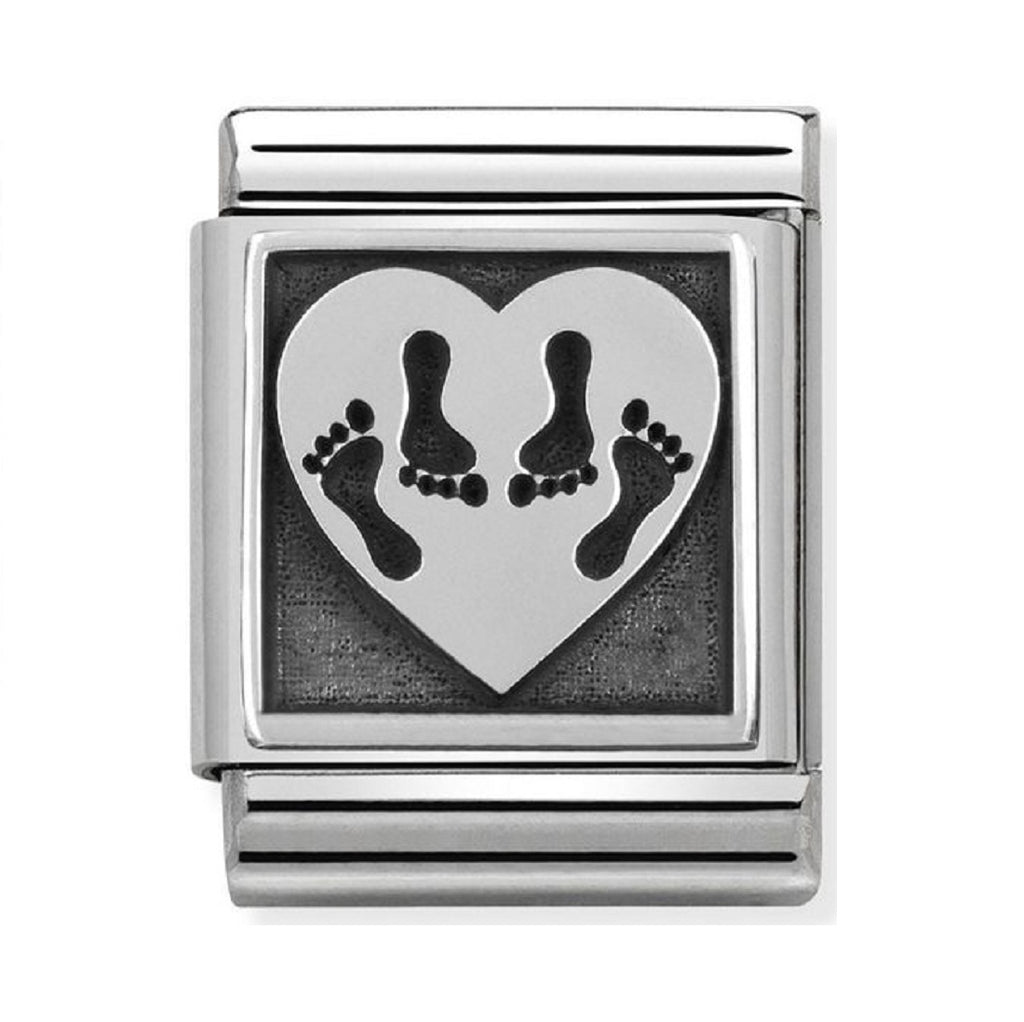 Nomination Charms Silver Heart whit 4 Feet 332110-13