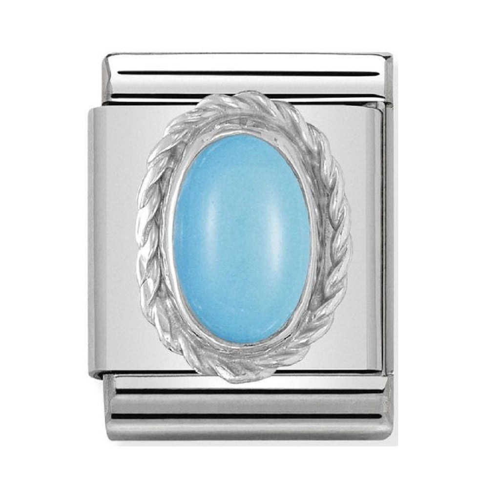 Nomination Charms Turquoise with Silver 032510-06
