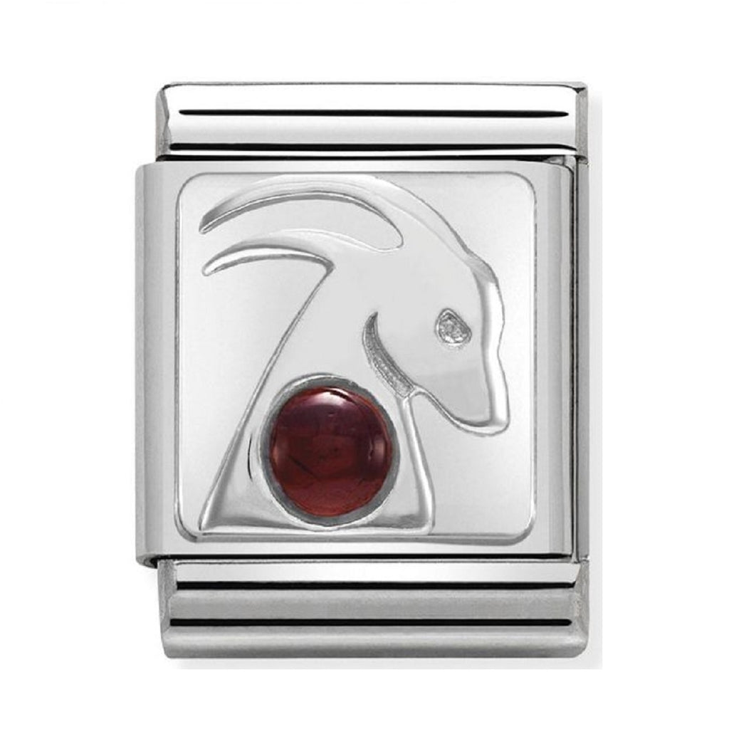 Nomination Charms Zodiac Capricorn with Garnet