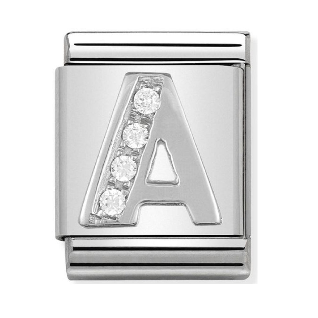Nomination Big Charms Silver CZ Letter A 332301-01