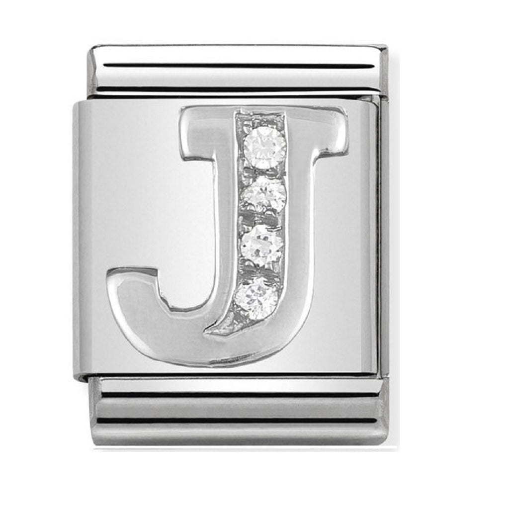 Nomination Big Charms Silver CZ Letter J  332301-10