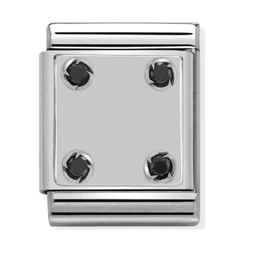 Nomination Big Charms Silver Plaque with 4 CZ 332303-01