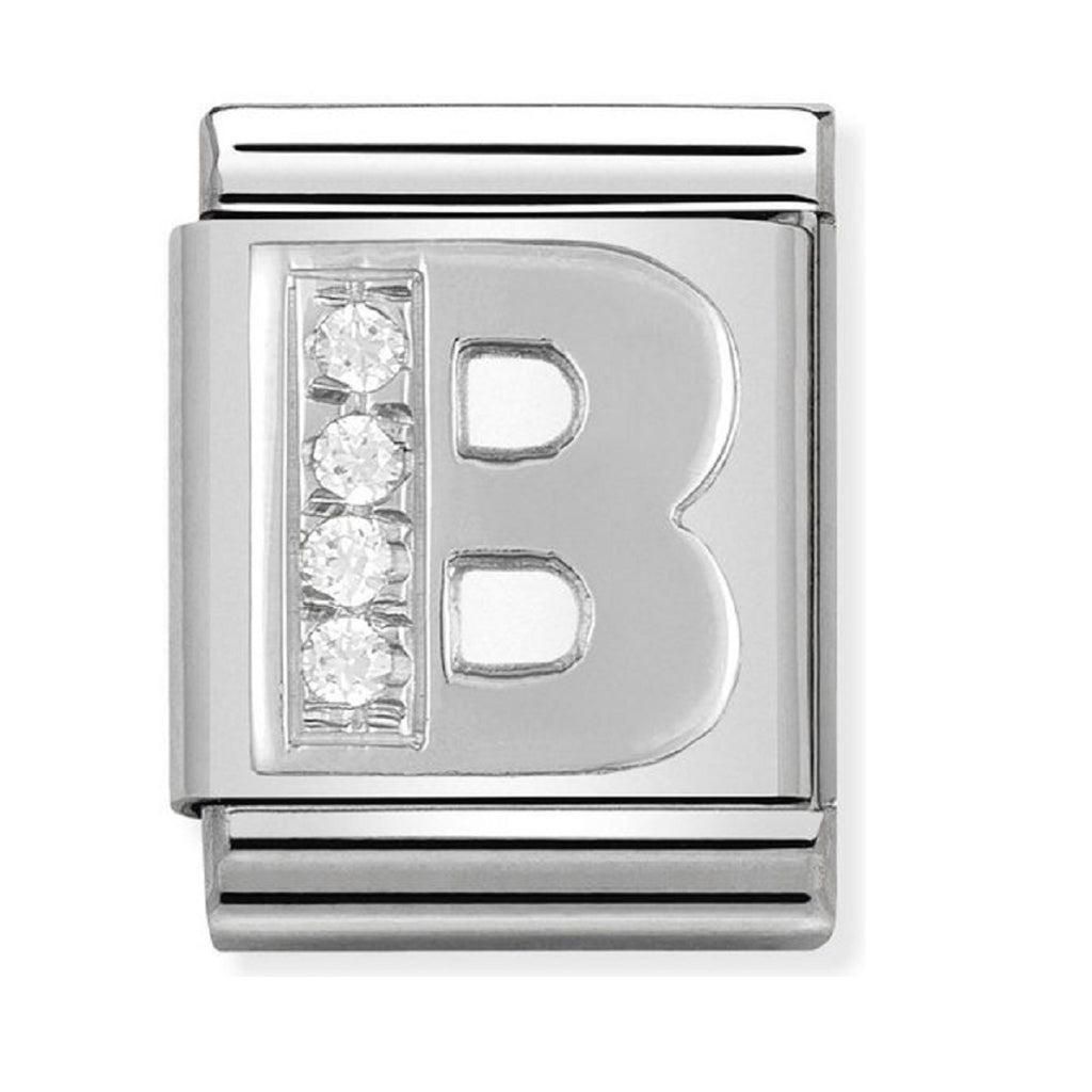 Nomination Charms Silver CZ Letter B