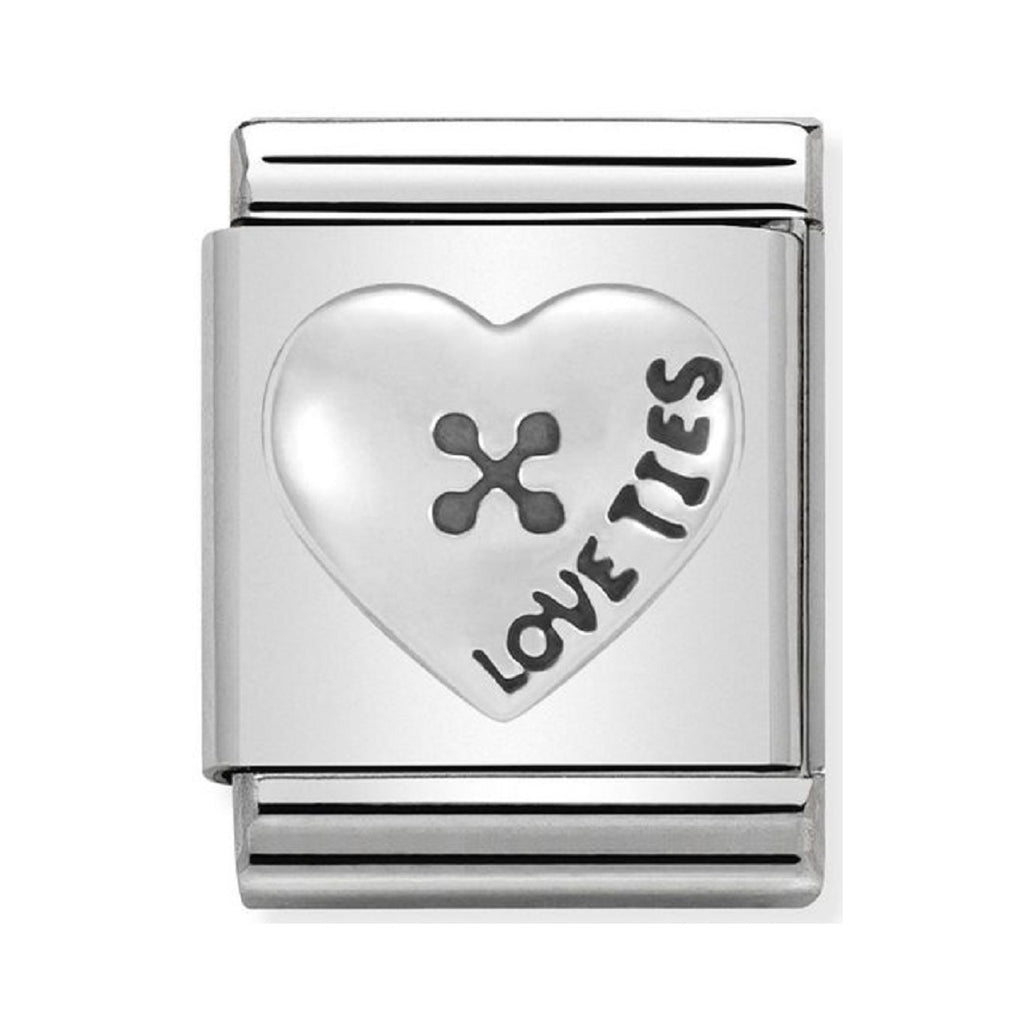 Nomination Charms Silver Heart Love ties