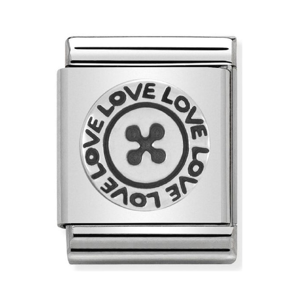 Nomination Charms Silver Love Button 332104-02
