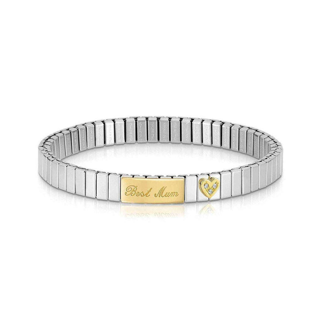 Nomination Extenstion Bracelet with Best Mum and Heart in Gold