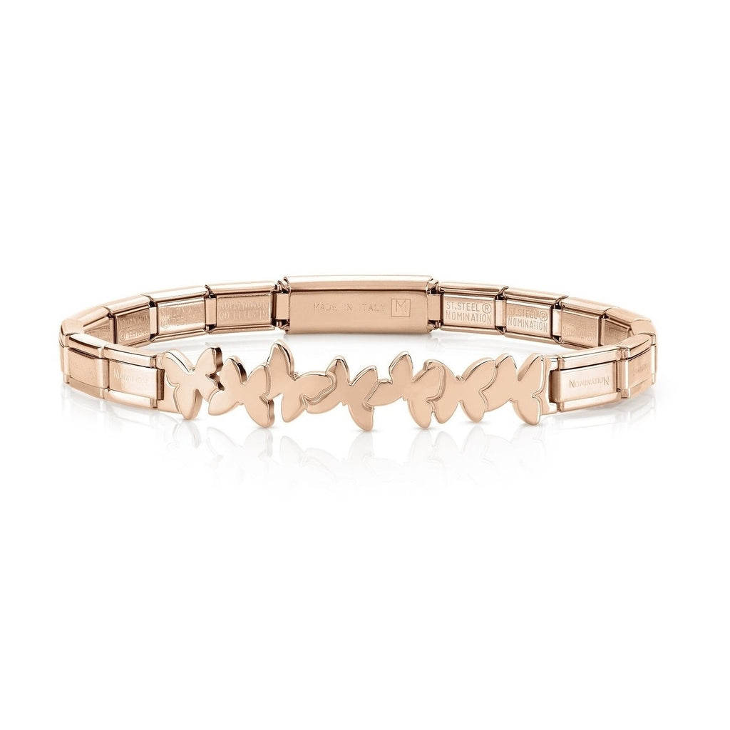 NOMINATION Trendsetter Bracelet Rose Gold with Butterflys