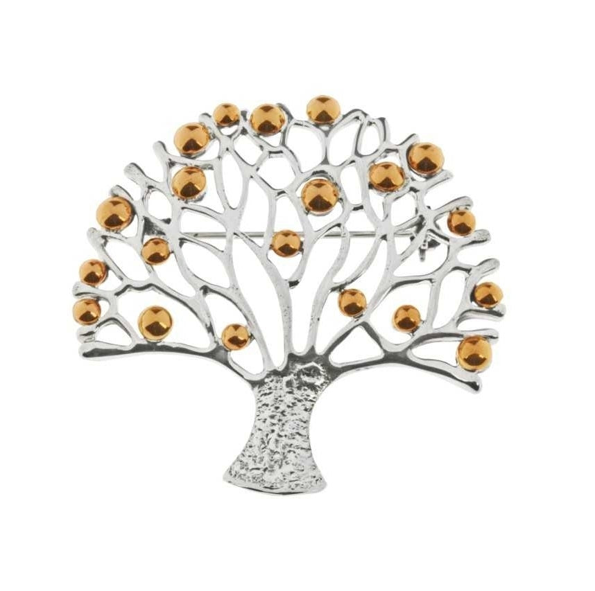 Tianguis Jackson Silver and Copper Tree of Life Brooch