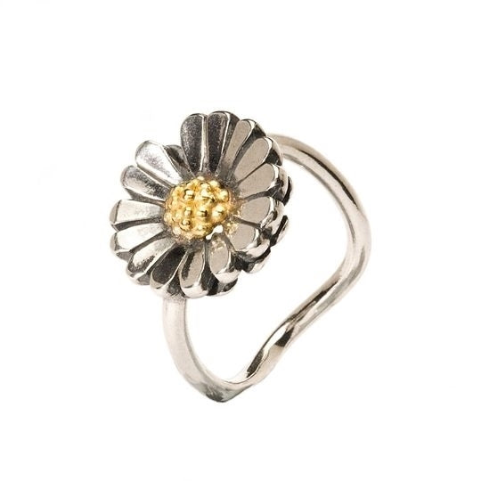 Trollbeads Silver and Gold Daisy