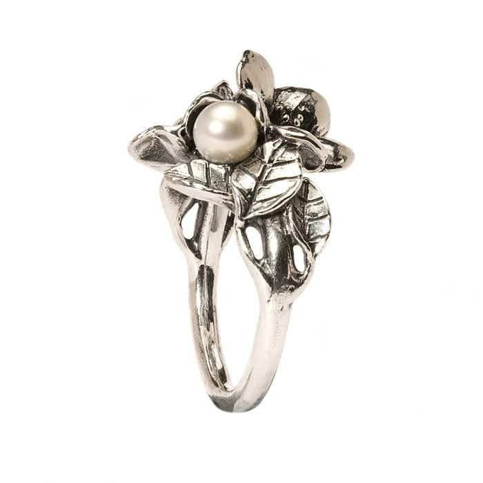 Trollbeads Silver Hawthorn with Pearl Ring Sizes 60