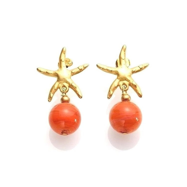 Antica Murrina Murano Glass Atlantide Coral Earrings