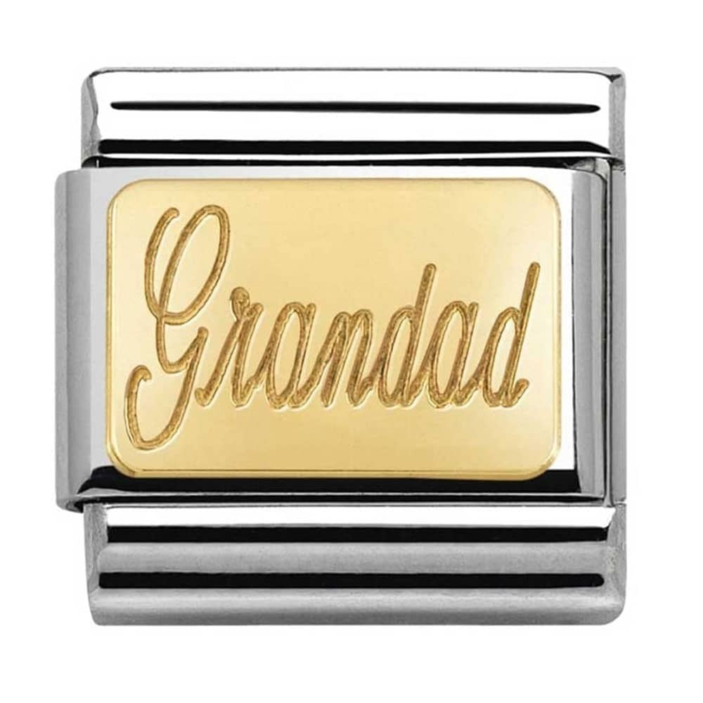 Nomination Link 18ct Gold Grandad