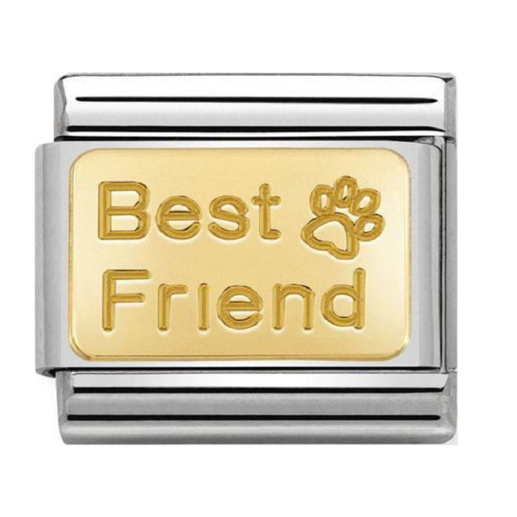 Nomination Link 18ct Gold Best Friend with Paw